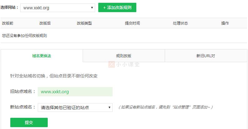 网站域名更换法