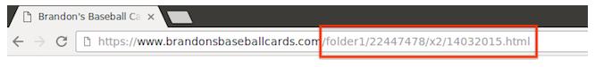 一个包含无意义的数值式网页名称的网址。