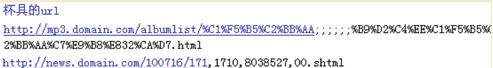 不添加不能被系统自动识别为url组成部分的字符