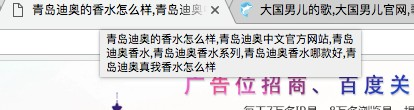 页面title中堆砌示例