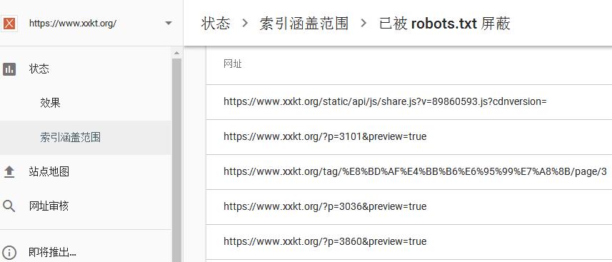 已被 robots.txt 屏蔽