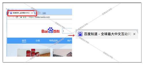 网页标题在代码中的表现