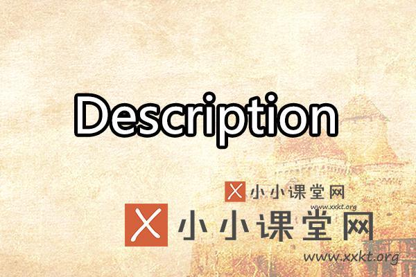 description是什么意思